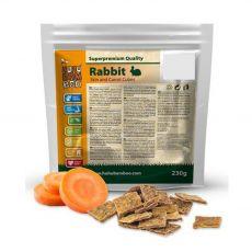 HUHU Bamboo kocky králičej kože s mrkvou 230 g