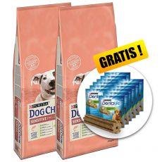 PURINA DOG CHOW SENSITIVE Salmon & Rice 2 x 14 kg + DARČEK