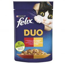 Kapsičky FELIX Fantastic DUO - hovädzie a hydina v želé 85 g