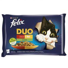 Kapsičky FELIX Fantastic DUO, lahodný výber so zeleninou v želé 4 x 85 g