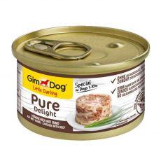 GimDog Pure Delight kura + hovädzie 85 g