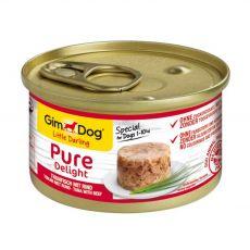 GimDog Pure Delight tuniak + hovädzie 85 g