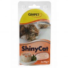 GimCat ShinyCat kura + papája 2 x 70 g