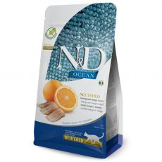 Farmina N&D cat OCEAN Neutered Herring & Orange 0,3 kg