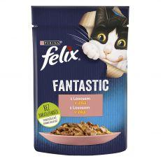 Kapsička FELIX Fantastic s lososom v želé 85 g