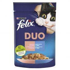 Kapsička Felix Fantastic Duo s lahodnou chuťou lososa a sardiniek v želé 85 g