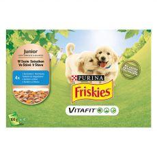 FRISKIES Junior VitaFit kapsička pre šteňatá s kuraťom a mrkvou v šťave 4 x 100 g