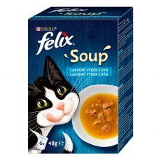 FELIX Soup Lahodný výber s treskou, s tuniakom, s platesou 6 x 48 g