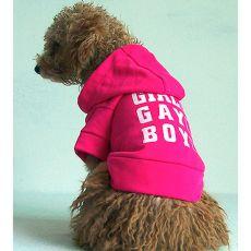 Pulóver s kapucňou pre psov - tmavoružový, XL