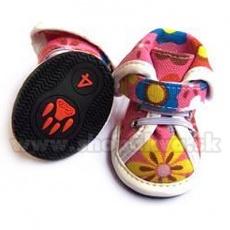 Topánky pre psov arabské látkové - ružové (4ks) - veľ.4