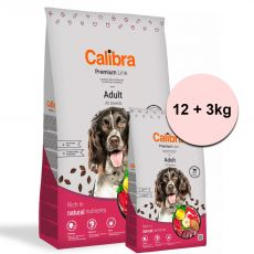 Calibra Dog Premium Line Adult Beef 12 + 3 kg NEW