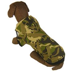 Mikina pre veľkého psa - MASKÁČ s kapucňou L-S