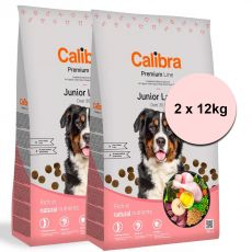 Calibra Dog Premium Line Junior Large 2 x 12 kg NEW