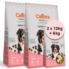 Calibra Dog Premium Line Junior Large 2 x 12 kg + 6 kg NEW