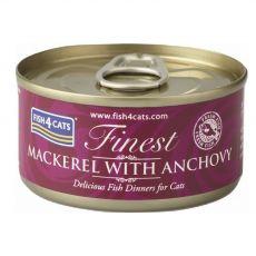 Fish4cats Finest Mackerel & Anchovy 70 g