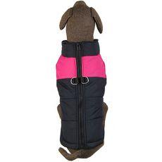 Vetrovka pre veľkého psa čierno - ružová L-XL