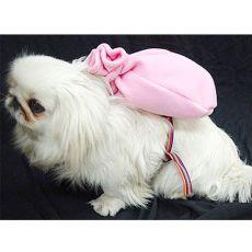 Batoh pre psa s telovým postrojom - ružový