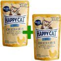 Kapsička Happy Cat ALL MEAT Adult Chicken & Duck 85 g 1+1 ZADARMO