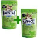 Kapsička Happy Cat ALL MEAT Adult Veal & Lamb 85 g 1+1 ZADARMO