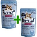 Kapsička Happy Cat ALL MEAT Adult Sterilised Chicken & Trout 85 g 1+1 ZADARMO