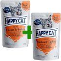 Kapsička Happy Cat MEAT IN SAUCE Adult Chicken & Turkey 85 g 1+1 ZADARMO