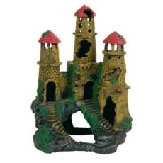 Akvarijná dekorácia zrúcanina hradu na kopci