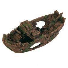 Dekorácia stará deravá delostrelecká loď