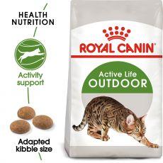 Royal Canin Outdoor granule pre mačky s častým pohybom vonku 2kg