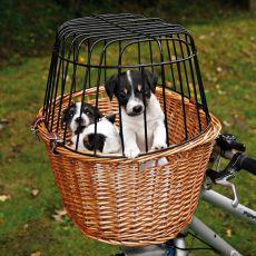 Košík na bicykel pre psov s mriežkou 44 x 48 x 33 cm