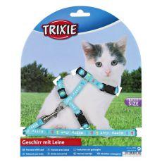 Postroj s vodítkom pre mačiatko Kitty Cat, modrý