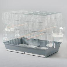 Klietka pre papagaja MESSI II chrom - 78 x 47,5 x 60 cm