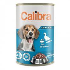 Konzerva Calibra Dog Adult kačka a ryža 1240 g