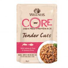 Wellness CORE Tender Cuts losos & tuniak 85 g