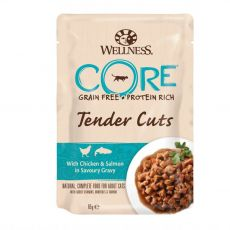 Wellness CORE Tender Cuts kura a losos 85 g