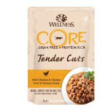Wellness CORE Tender Cuts kura a kuracia pečeň 85 g
