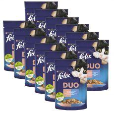 Kapsička Felix Fantastic Duo s lahodnou chuťou lososa a sardiniek v želé 12 x 85 g