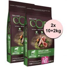 Wellness CORE Adult Lamb 2 x (10+2 kg)