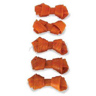 Žuvacia kosť pre psa - bravčový uzol, 5 ks, 6 cm