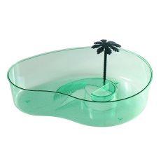 Terárium pre korytnačky s palmou - zelené