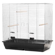 Klietka pre veľké papagaje GONZO chrom - 78 x 47,5 x 79 cm