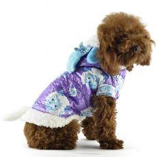 Bunda pre psa - fialová s kresleným baranom, XS