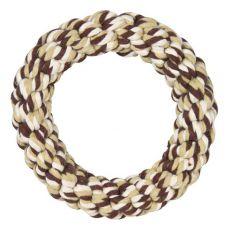 Bavlnený kruh pre psov, hnedý - 14 cm