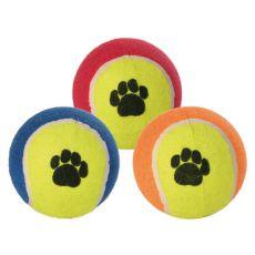 Tenisová lopta pre psov - farebná, 10 cm