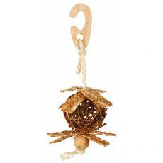 Prútená lopta so sisalovým lanom pre vtáky 5,5 cm