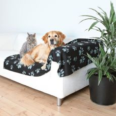 Deka pre psov a mačky - sivá labka, 150 x 100 cm