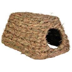 Trávový úkryt pre hlodavce - domček, 28 x 18 x 13 cm