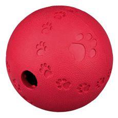 Lopta na pamlsky pre psy - prírodná guma, 9 cm