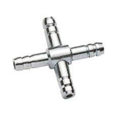 Rozvodka na vzduchovaciu hadičku 4/6mm- Kríž kovový