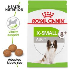 ROYAL CANIN X-Small Adult 8+ granuly pre dospelé starnúce veľmi malé psy 1,5kg