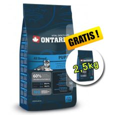 Ontario Puppy All 13 kg + 2,5 kg GRATIS